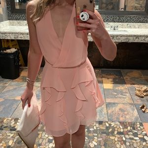 BCBGeneration mini pink ruffle dress